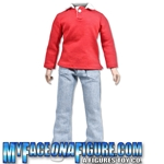 12 Inch Male Blue Jeans & Red Long Sleeved Shirt