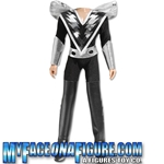 12 Inch Male Black & Silver Costume