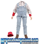 12 Inch Male Outfit with Overalls