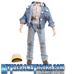 12 Inch Male Denim Outfit With Dirt Stain Look (mechanic-esque)