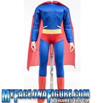18 Inch Red & Blue Superhero Outfit With Body & Stand