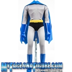 18 Inch Blue & Gray Superhero Outfit With Body & Stand