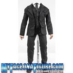 18 Inch Black Suit Outfit With Body & Stand