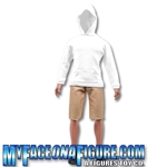 12 Inch Male Khaki Shorts & Sweatshirt