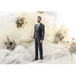 Custom 3D Printed Wedding Cake Topper With Your Face: Bride & Groom