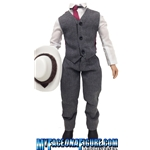 12 Inch Gray Suit With Vest & White Fur Hat