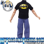 5 Inch Child Black Batman Shirt