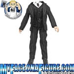 12 Inch Male Pinstripe Suit With Vest