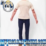 12 Inch Male Tan Shirt & Jeans